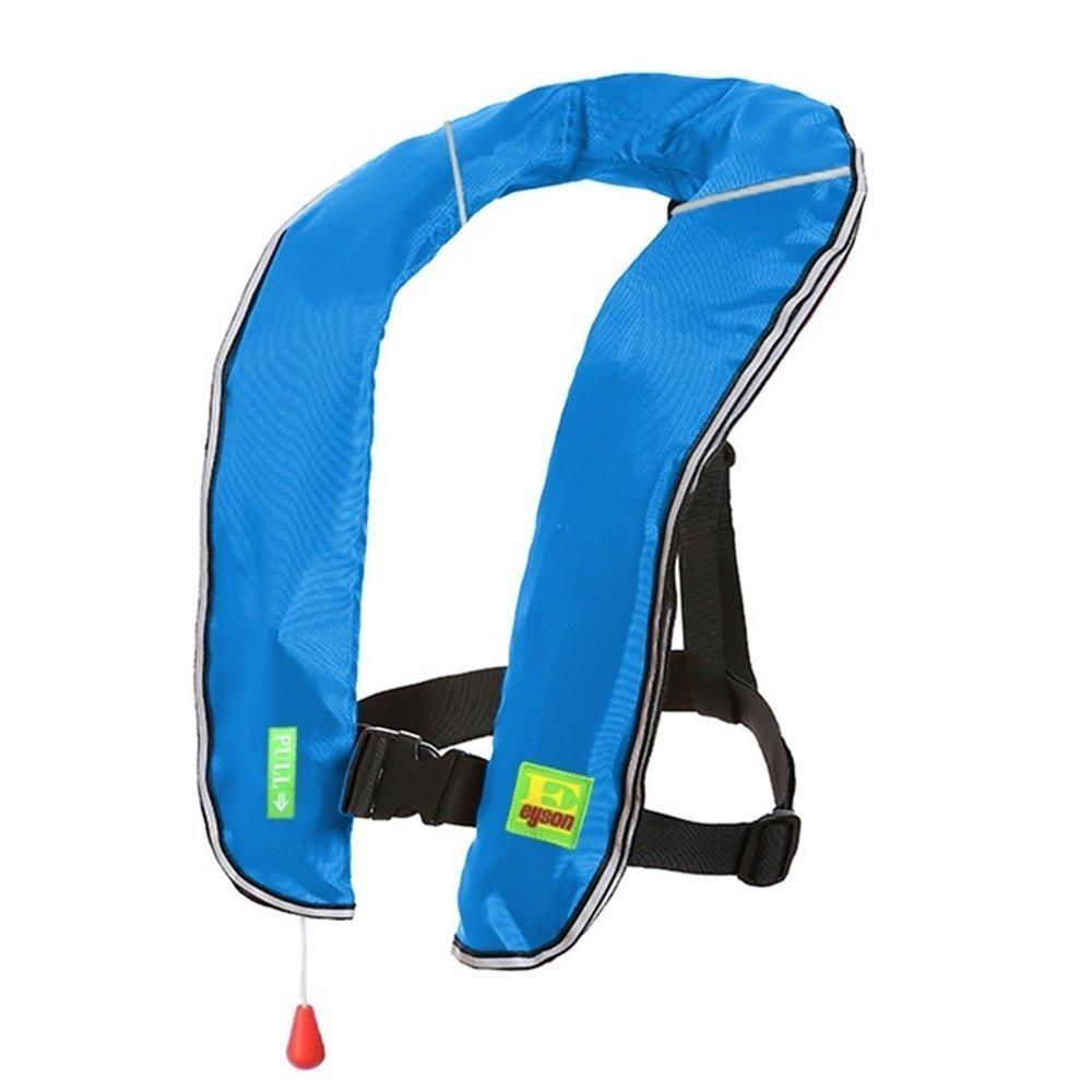 Lifesaving Proプレミアム33 g手動インフレータブルPFDサバイバル浮力釣りボートカヤックライフジャケットクラシックデザイン B076TPCSY5 ブルー ブルー