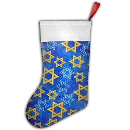 Hanukkah Christmas Stocking.S2wind Happy Hanukkah Israel Stars Christmas Stocking Santa