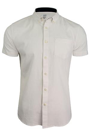 78bb93bc1e36cd Xact Short Sleeved Linen Mix Shirt: Amazon.co.uk: Clothing