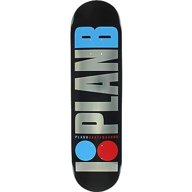 Plan B Skateboards OG Foil Black / Silver / Red Skateboard - 8