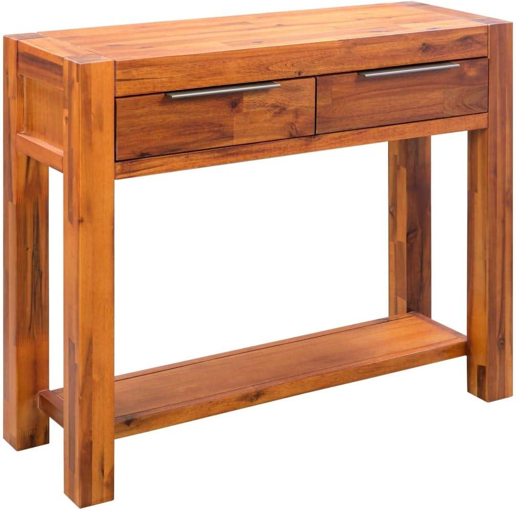 Tavolino Consolle Ingresso in Legno Massello dAcacia 86x30x75 cm Festnight Tavolo Consolle