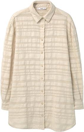 MANGO Camisa Rustica Blouse Beige, tamaño:S/20: Amazon.es ...