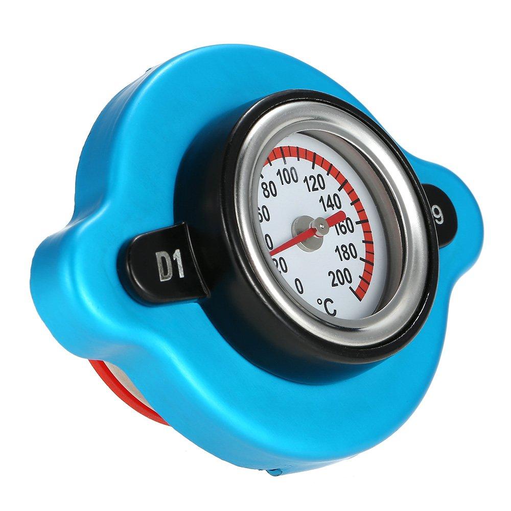 KKmoon 0.9 Bar Termostatico Tappo del Radiatore con Calibro di Temperatura dell'Acqua per Carrello Rimorchio Camion