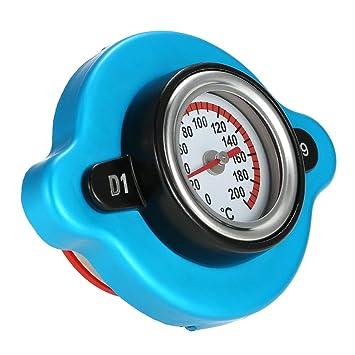 KKmoon Tapón de Radiador Funda con Indicador de Temperatura de Agua para Coche Auto Acoplado de Carro de Montacargas: Amazon.es: Coche y moto