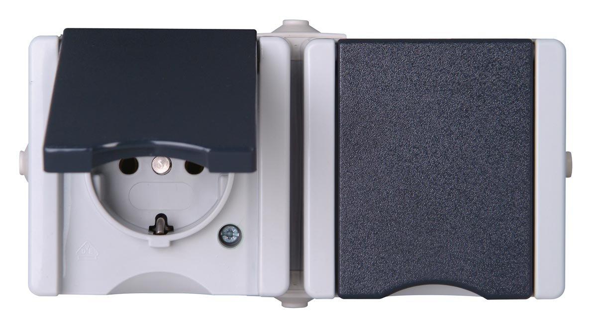 Kopp 950656001 Pro AQA Aufputz-Feuchtraum Schalterprogramm ...