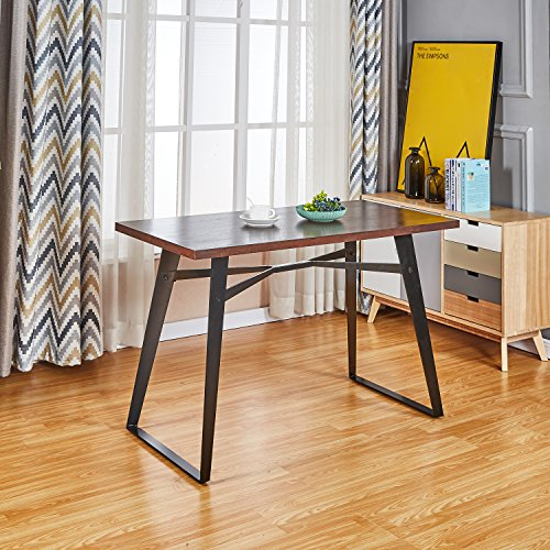 Dining Modern Table Rectangular (Modern Industrial Dining & Kitchen Room Rectangle table, Wood and Metal Computer Desk Tables)