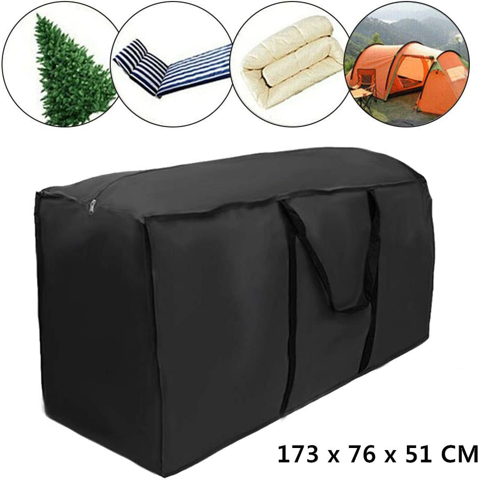 ODOMY Garden Storage Bag Heavy Duty Furniture Cushion Bags Waterproof Handbag Carry Case Organiser with Handles for Home and Patio Accessories Christmas Tree 122 x 39 x 55 CM