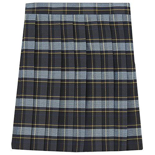 Skirt School Plaid Apparel (French Toast Little Girls' Pleated Skirt, Blue/Gold Plaid, 6)