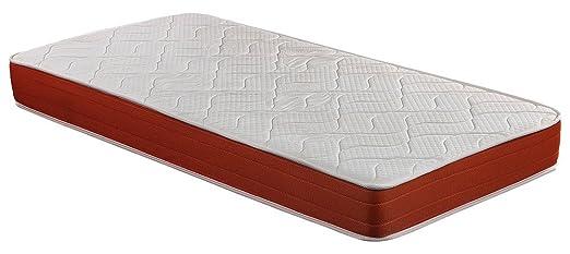 SmartCell Viscoelástico, Poliéster, Blanco y Naranja, Cama 80/95 (Twin), 90 x 190 cm: Amazon.es: Hogar