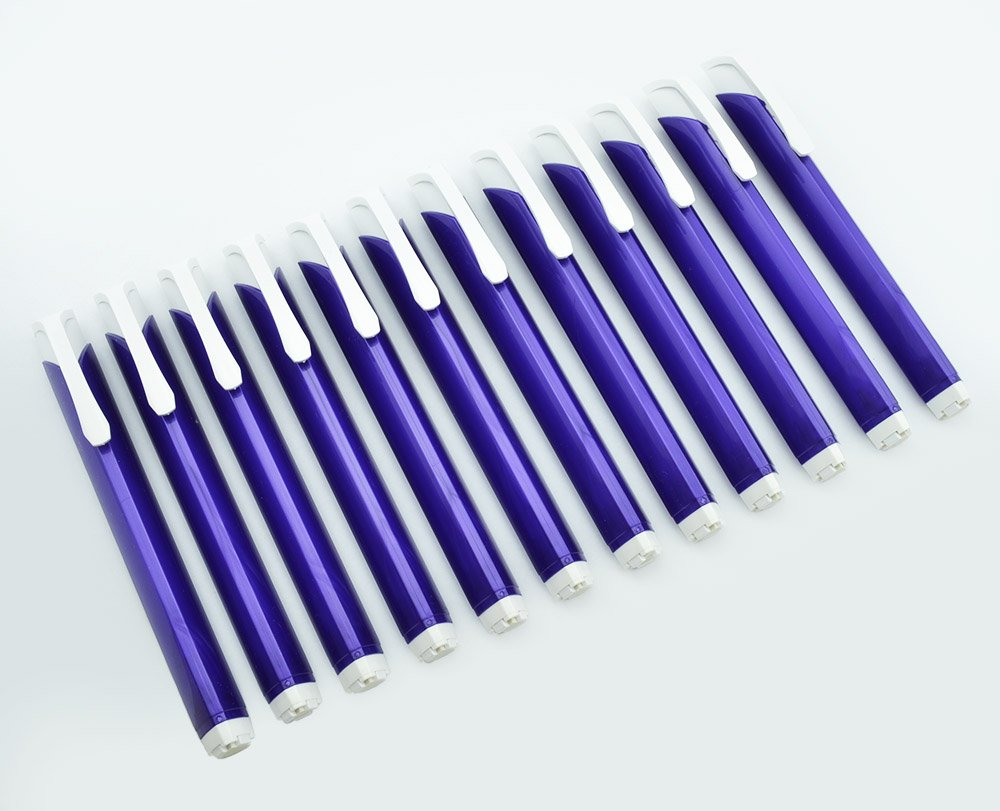 Pentel Tri Eraser - Retractable 3 Sided Erasers, Purple Holder (Quantity of 12)