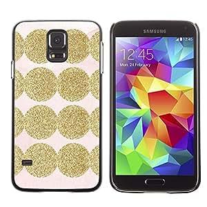 FECELL CITY // Duro Aluminio Pegatina PC Caso decorativo Funda Carcasa de Protección para Samsung Galaxy S5 SM-G900 // Shiny Pink Pattern Dot