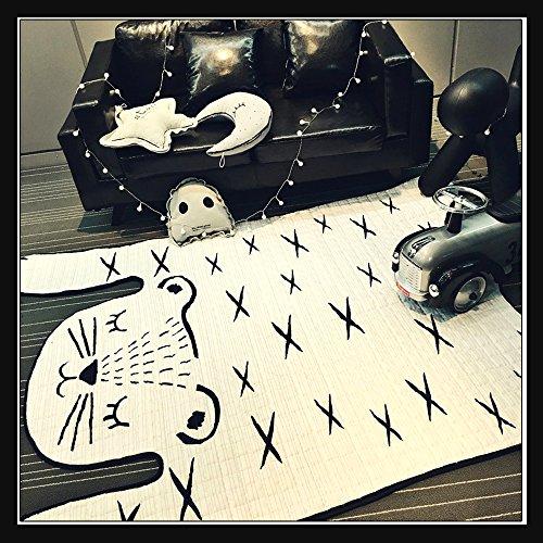 Hiltow Soft Comfortable Cotton Ground Mat Pretty Cartoon Tiger Design Child Mattress Kids Playmat Crawling Mat