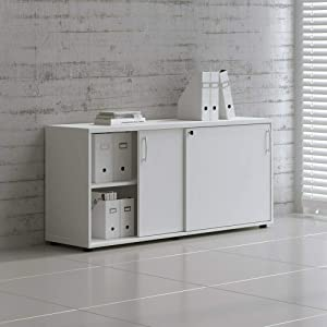 "MDD Office Furniture Standart 63"" Sliding Door Storage Unit"
