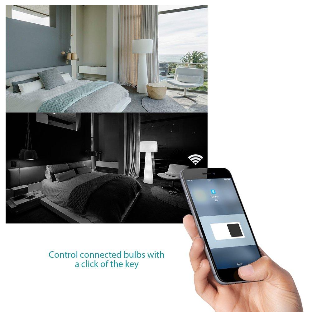 Koogeek Smart Socket WiFi Enabled E26 Light Bulb Adapter Works with Apple HomeKit Support Siri Voice Control Home App on 2.4Ghz Network by Koogeek (Image #7)