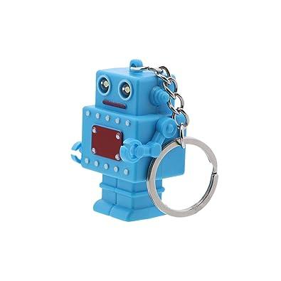 Amazon.com: Robot llavero LED con luz de flash y sonido ...