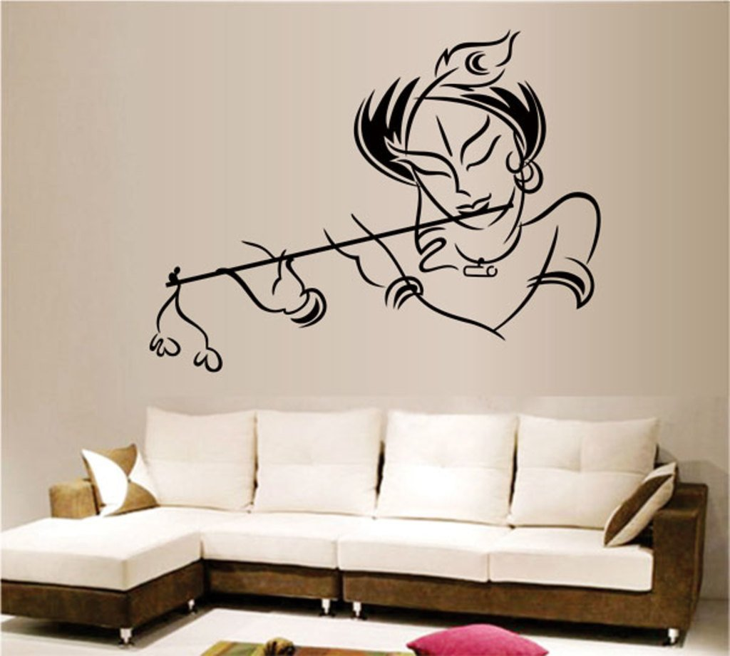 Buy Decals Design Krishna Wall Sticker PVC Vinyl 50 cm x 70 cm