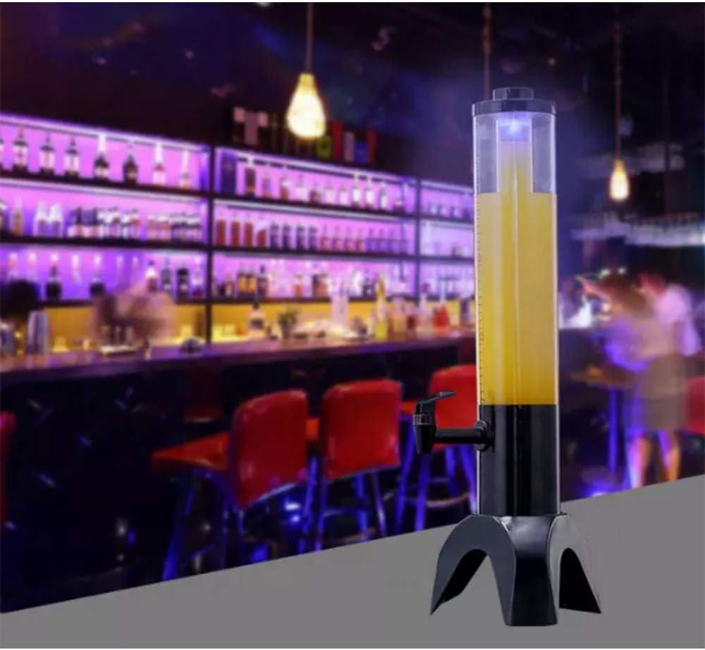 Haoshangzh55 Dispensador De Cerveza De 3,5 litros, Torre De Cerveza, Dispensador De Cerveza De Fiesta con Grifo, Jirafa Torre De La Cerveza De Hielo Refrigerado,Columna De Bebida