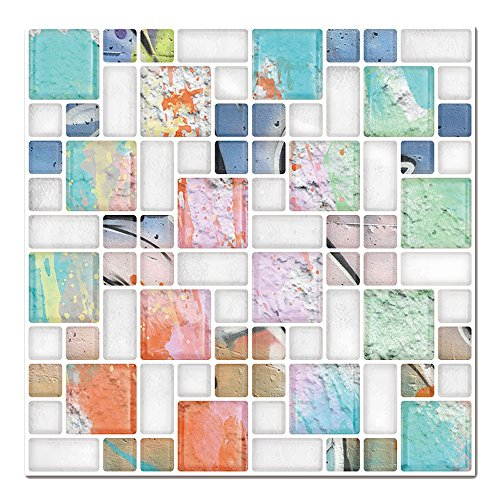 Cocotik Self Adhesive Wall Tile Peel and Stick Backsplash for Kitchen, 10