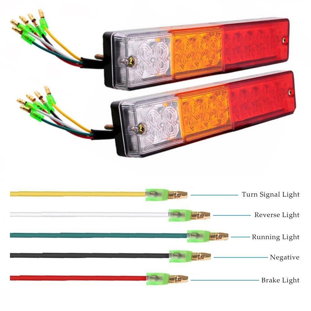 NEW SUN 4 x 2 Rectangular Trailer Marker Clearance Lights 10LEDs Truck RV Camper LED Lights w//Reflex Lens 12V Surface Mount 5Red /& 8Amber 5559011702
