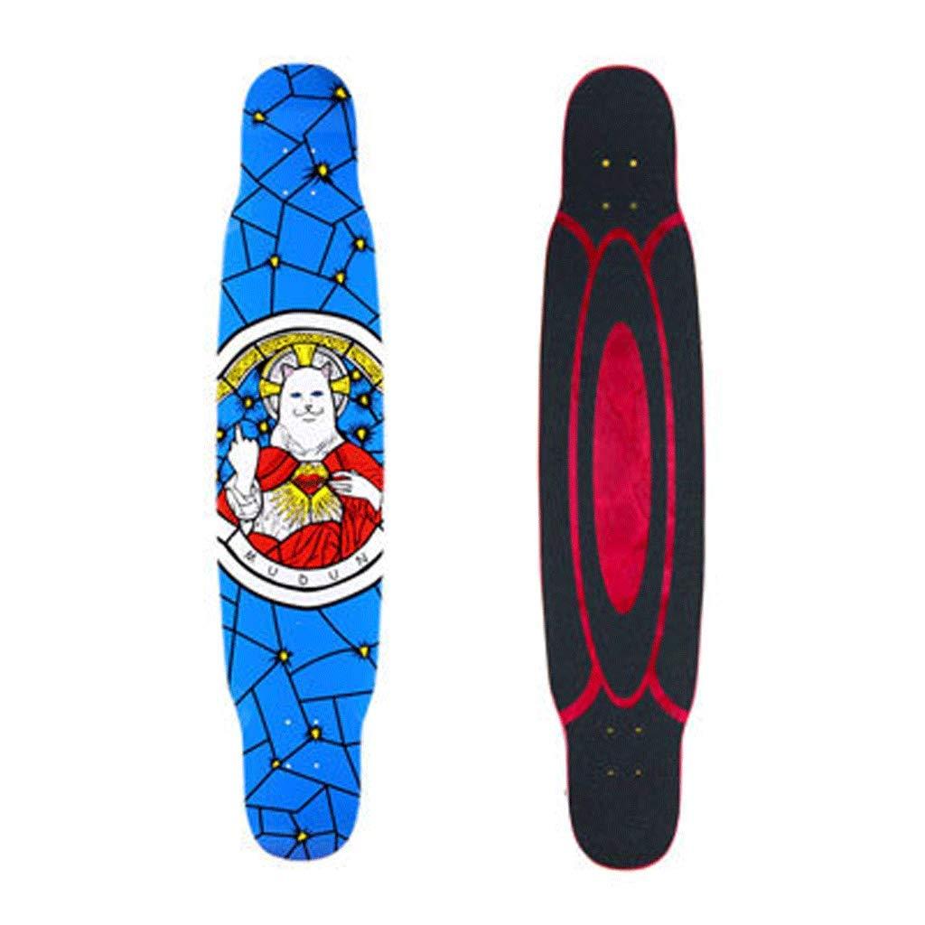 【オンライン限定商品】 プロの初心者の男の子と女の子のダンスボード4ラウンドストリートロングボードスケートボード (色 (色 : : 青) B07L2VZRTQ 青) 青, 中辺路町:072adff7 --- a0267596.xsph.ru