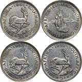 ZA 1951 , 1952, 1953 & 1956 South Africa 5 Shillings About Uncirculated