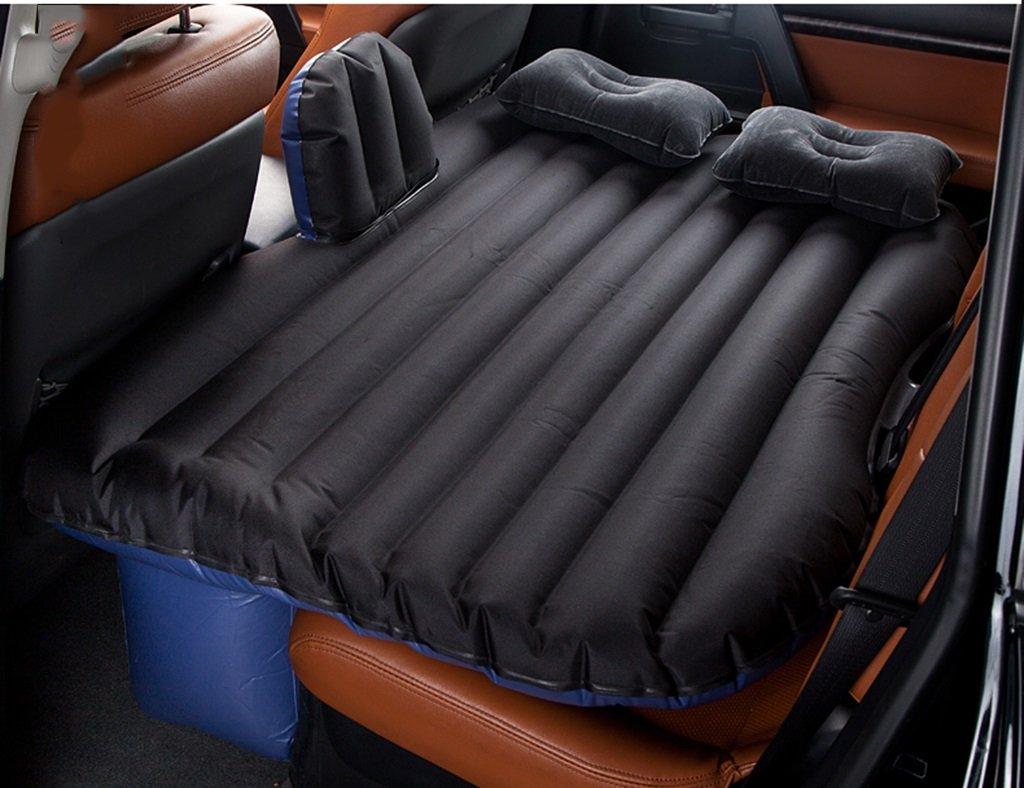 車のインフレータブルマットレスエアマットレス車のショックベッドピクニックベッド旅行のインフレータブルベッド背部シートマットレスユニバーサル車のクッションキャンプエアベッド ( 色 : ブラック ) B07CLMYTLX  ブラック