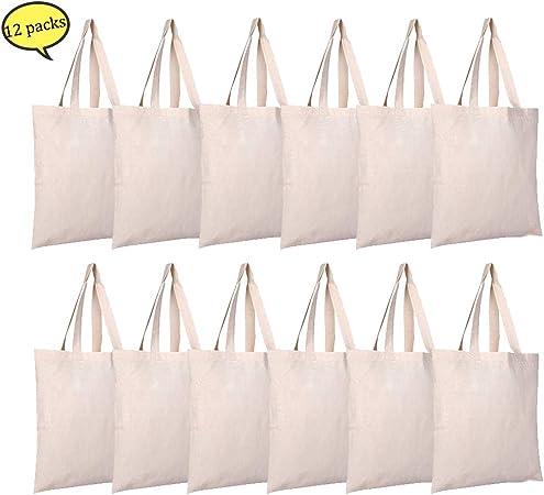 Bolsas de lona natural para manualidades y decoración ...