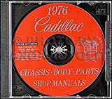 1976 CADILLAC FACTORY REPAIR SHOP & SERVICE MANUAL CD - INCLUDES: DeVille, Eldorado, Calais, Fleetwood Sixty Special Brougham, Fleetwood