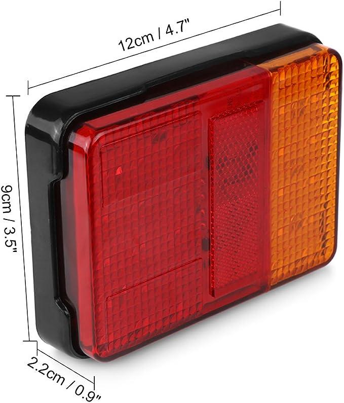 Classe di efficienza energetica A + abedoe 2/pezzi 30/LED luce lampada Light Stop fanalino impermeabile 12/V Truck lampada posizione Targa freno