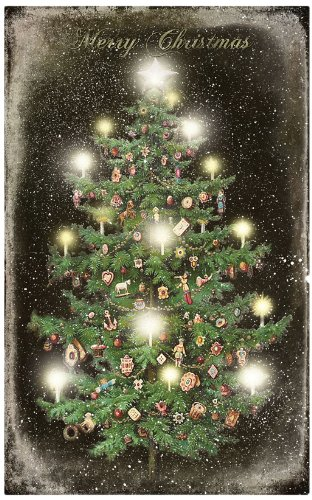 ohio wholesale radiance lighted vintage christmas tree canvas wall art from our christmas collection