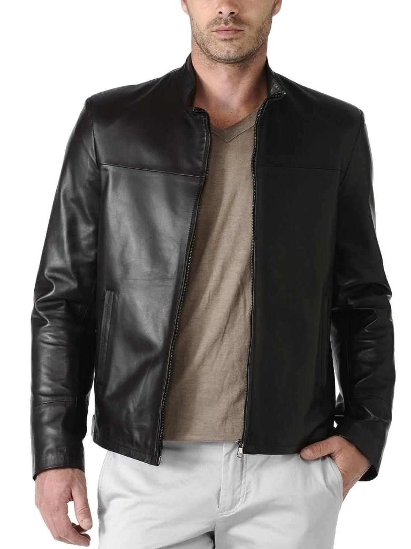 ABDys Men's Lambskin Leather jacket DKL701 Black