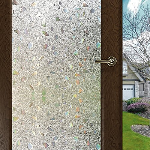 (Wopeite Frosted Window Film Self-Adhesive Privacy Stained Glass Window Film (17.7 X 78.7 Inches))