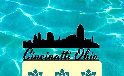 Pleasing Cincinnati Ohio Cinci Blue Chip City The City Of Seven Hills Personalised Birthday Cards Veneteletsinfo