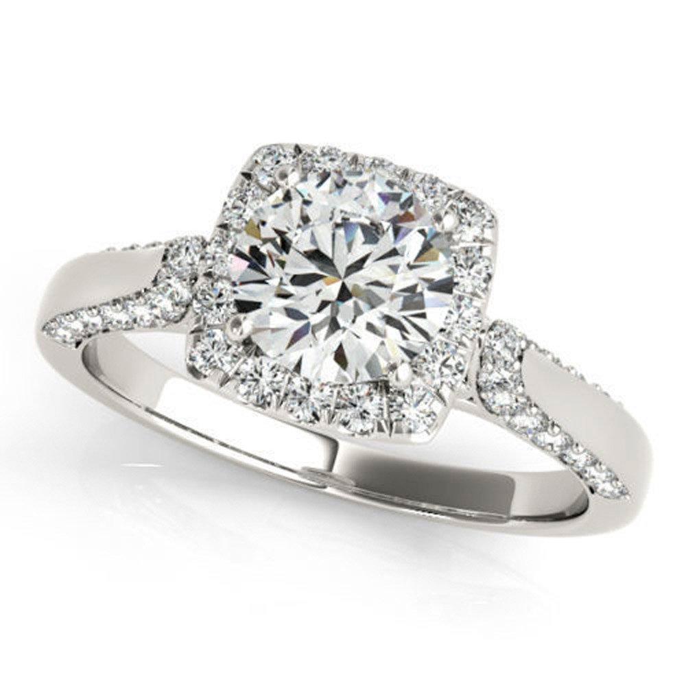 Allure 0.97 ct J-K Moissanite Engagement wedding Ring 925 Sterling Silver
