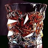 PrimeWorld Diamond Design Crystal Cut Whiskey Glass Set (300 ml) -Pack of 6