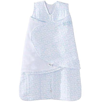 Halo - Saco de dormir para bebé (100% algodón, estampado de círculos de