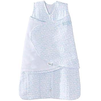 Halo - Saco de dormir para bebé (100% algodón, estampado de círculos de 0 a 3 meses), color gris: Amazon.es: Bebé