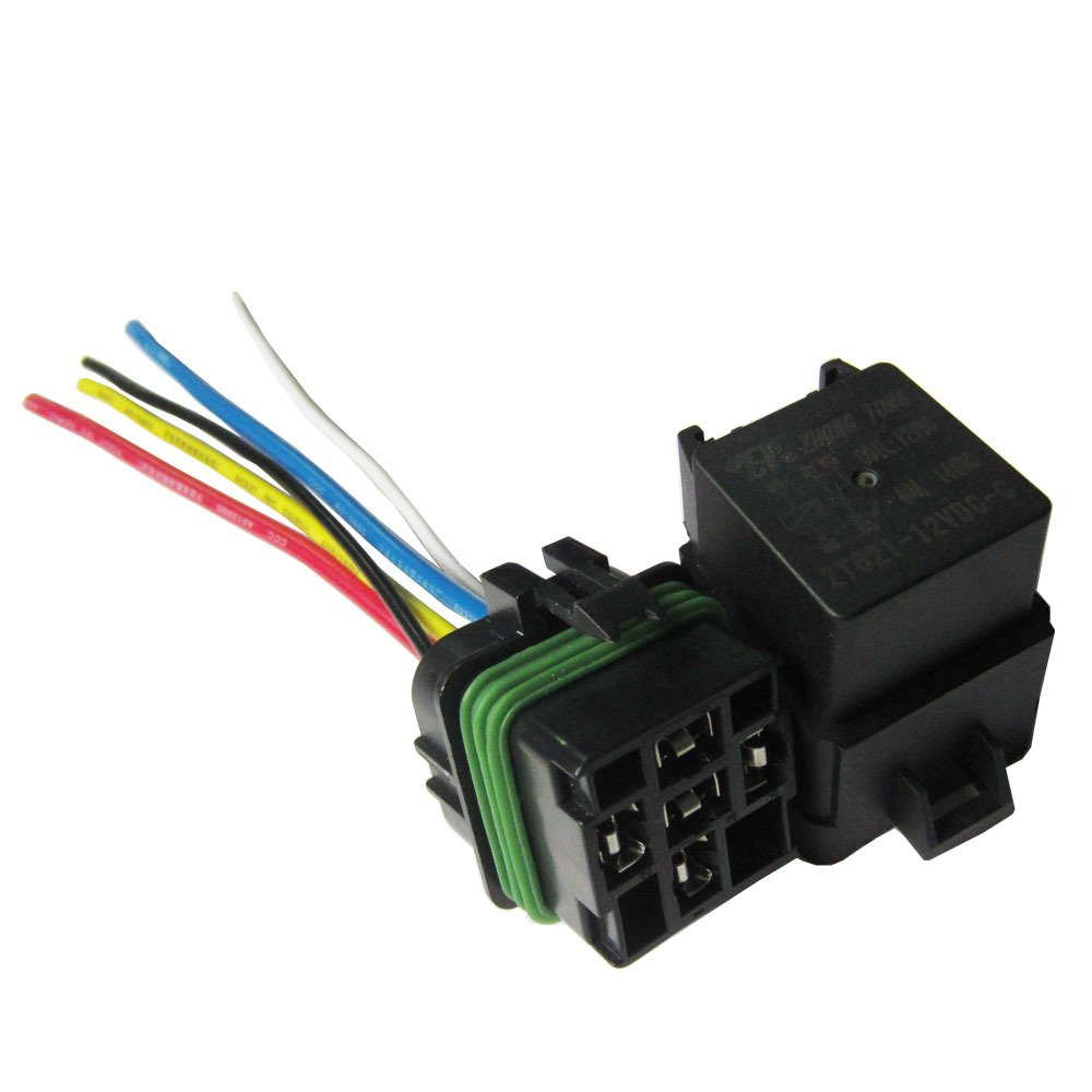 Etopars™ Car Vehicle Motor Heavy Duty 12V 40A SPDT Relay Socket Plug 5Pin 5 Wire Waterproof Kit