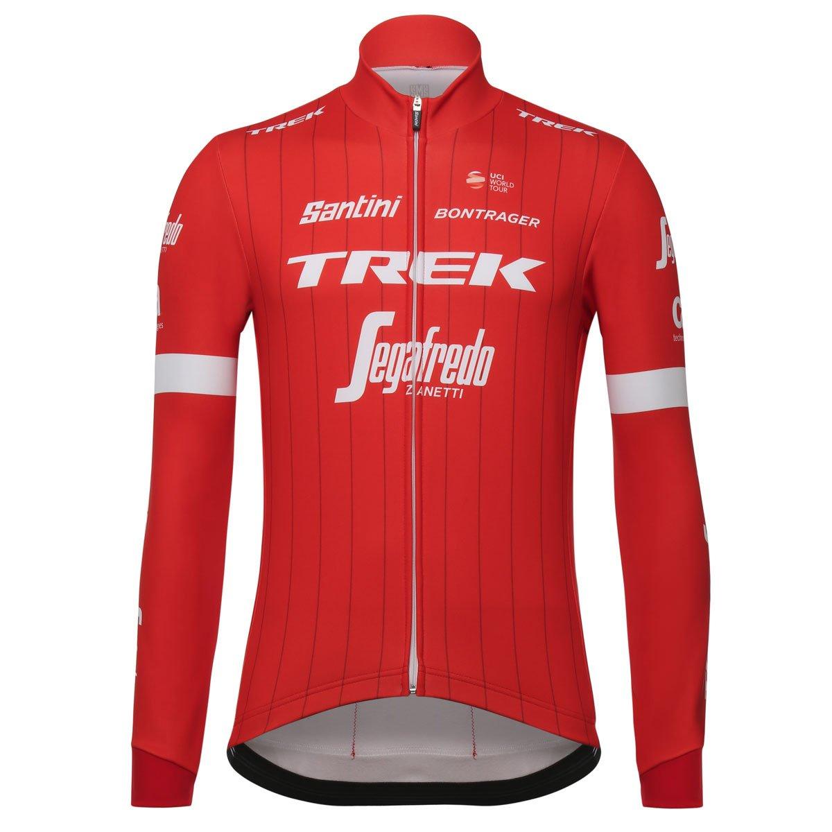 自転車ウェア 2018 Trek Segafredo Santini 長袖ジャージ Mサイズ   B0798W6XZZ