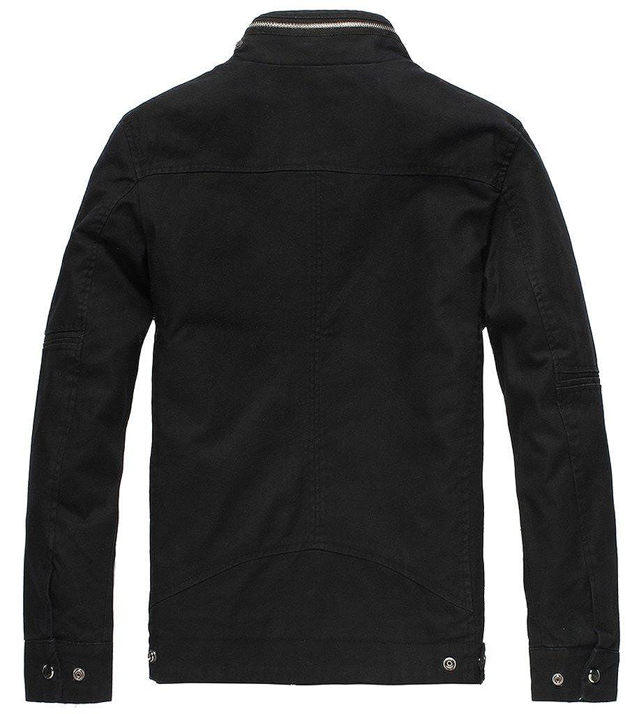 Wantdo Mens Slim Fit Cotton Casual Jacket Outwear Coat