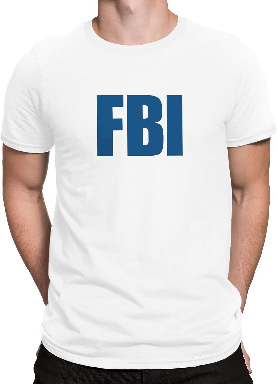 vanVerden Camiseta de Hombre Camiseta del FBI Oficina Federal de Investigación Camiseta de la Policía de EE.UU, Tamaño:XL, Color:Blanco/Senos: Amazon.es: Ropa y accesorios