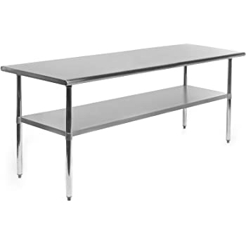 Amazoncom Best Choice Products X Stainless Steel Work Prep - 6 ft stainless steel table