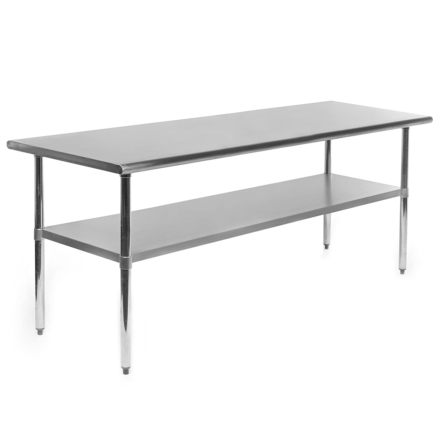 Amazoncom Gridmann NSF Stainless Steel Commercial Kitchen Prep - Stainless steel work table with wheels