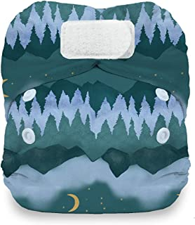 product image for Thirsties Natural Newborn All in One Cloth Diaper, Hook & Loop Closure, Mountain Twilight (5-14 lbs)