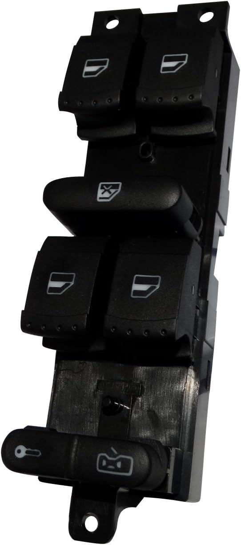 AERZETIX Interruptor boton de control para ventanas C40416 compatible con 1J4959857C