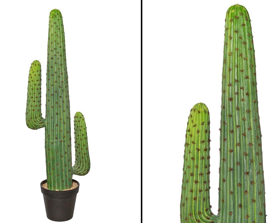Mexikanischer Kaktus künstlich, grün mit Topf, Höhe 140cm - künstlicher Kaktus Kakteen Kunstkaktus