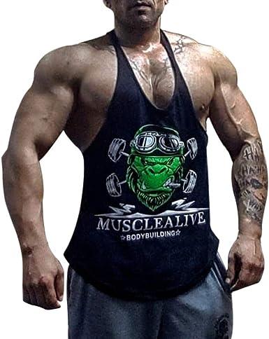 Men Fitness Sportswear tank Tops Gym Bodybuilding Muscle Cotton Fitness Vest