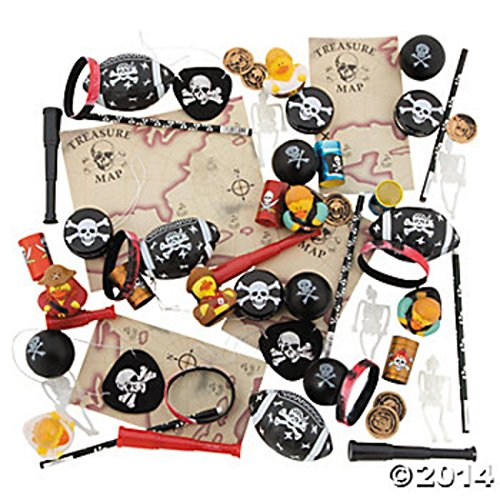 Best Original Halloween Costume Ideas 2016 (50PC PIRATE PARTY TOY ASSORTMENT GREAT FOR GIFT BAGS,PINATAS ,& Christmas Party)