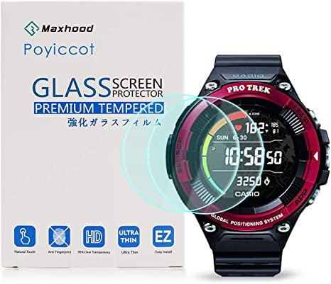 Amazon.com: for Casio Pro Trek Screen Protector, Poyiccot ...