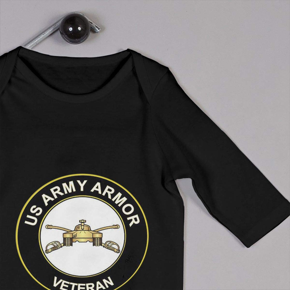 US Army Veteran Armor Newborn Baby Long Sleeve Bodysuits Rompers Outfits